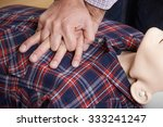 man using cpr technique on... | Shutterstock . vector #333241247