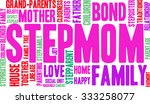 stepmom word cloud on a white... | Shutterstock .eps vector #333258077