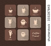 coffee beverages cups and...   Shutterstock .eps vector #333287843