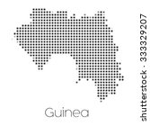 a map of the country of guinea | Shutterstock .eps vector #333329207