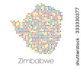 a map of the country of zimbabwe   Shutterstock .eps vector #333330377