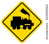 train vector sign | Shutterstock .eps vector #333333563