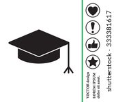 graduation hat cap icon