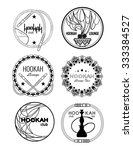 black and white shisha icon set ... | Shutterstock .eps vector #333384527