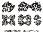 tribal dragon head with... | Shutterstock .eps vector #333394073