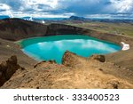 volcano crater viti with... | Shutterstock . vector #333400523