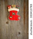 christmas ornament on wood...   Shutterstock . vector #333413783