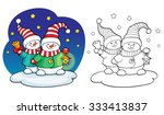 coloring book or page ... | Shutterstock .eps vector #333413837
