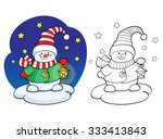 coloring book or page ... | Shutterstock .eps vector #333413843