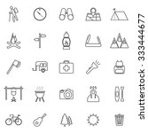 trekking line icons on white... | Shutterstock .eps vector #333444677