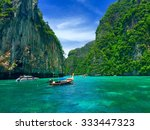 phi phi island  krabi  thailand | Shutterstock . vector #333447323
