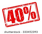 40 percent red stamp text on... | Shutterstock .eps vector #333452393