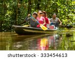 tourist boat navigating on... | Shutterstock . vector #333454613
