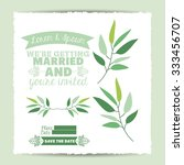 married invitation concept with ... | Shutterstock .eps vector #333456707