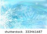 beautiful blue winter... | Shutterstock . vector #333461687