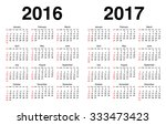 calendar for 2016 and 2017 with ... | Shutterstock .eps vector #333473423