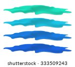 puddle of water spill set. blue ... | Shutterstock .eps vector #333509243