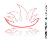 illustration of lotus flower... | Shutterstock . vector #333512957