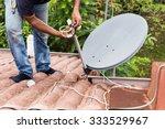 skillful worker installing... | Shutterstock . vector #333529967