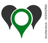 map markers vector icon. style... | Shutterstock .eps vector #333543983