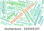 mental fitness word cloud on a... | Shutterstock .eps vector #333545147