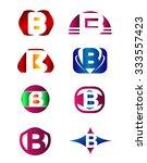 set of letter b logo