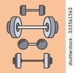 fitness lifestyle design ... | Shutterstock .eps vector #333561563