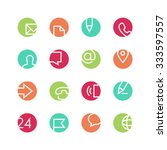 contacts icon set   vector... | Shutterstock .eps vector #333597557