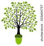 vector oak tree growing from... | Shutterstock .eps vector #333604757