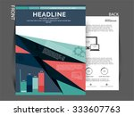 vector flyer  brochure magazine ... | Shutterstock .eps vector #333607763