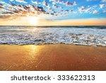 colorful ocean beach sunrise...   Shutterstock . vector #333622313