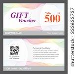 voucher template with rainbow... | Shutterstock .eps vector #333633737