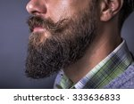 closeup of a man beard and