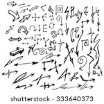 vector hand drawn arrows set... | Shutterstock .eps vector #333640373