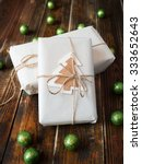 gifts with natural packaging on ... | Shutterstock . vector #333652643