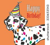 happy birthday card | Shutterstock .eps vector #333653543