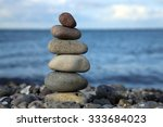 cairn at the beach  baltic sea  ... | Shutterstock . vector #333684023