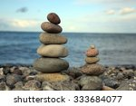 cairn at the beach  baltic sea  ... | Shutterstock . vector #333684077