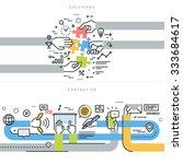 flat line design vector... | Shutterstock .eps vector #333684617