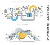 flat line design vector... | Shutterstock .eps vector #333684653