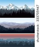 vector alps mountains forest... | Shutterstock .eps vector #333705467