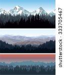 vector alps mountains forest...   Shutterstock .eps vector #333705467