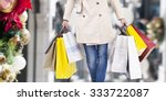 Woman Walking With Shopping...