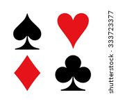 set of vector playing card...   Shutterstock .eps vector #333723377