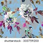 seamless floral pattern summer... | Shutterstock . vector #333759203