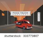 food truck festival poster.... | Shutterstock .eps vector #333773807