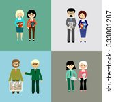 set of business people. flat... | Shutterstock .eps vector #333801287