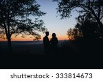 man and woman standing in a... | Shutterstock . vector #333814673