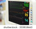 Stock photo heart monitor measuring vital signs 333818663