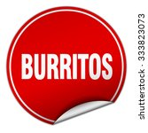 burritos round red sticker... | Shutterstock .eps vector #333823073